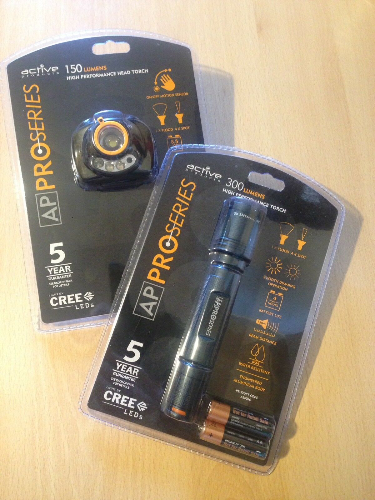 AP ProSeries 300 Lumens Torch & Head Torch (Suit Electrician)