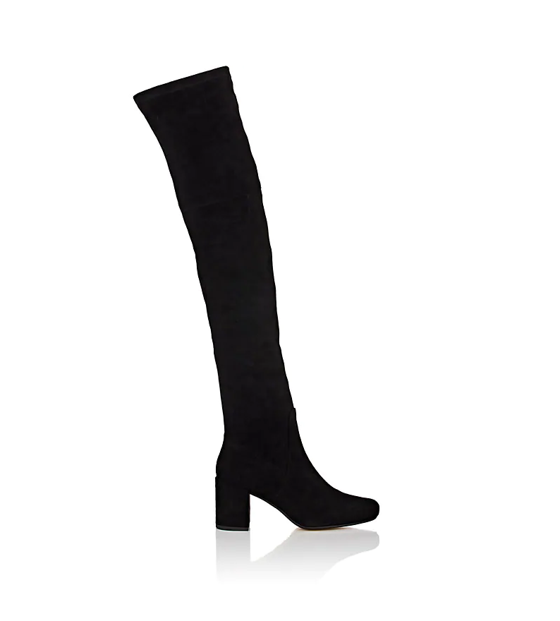 NIB Barneys New York Faux-Suede Over-The-Knee Boots Size 7