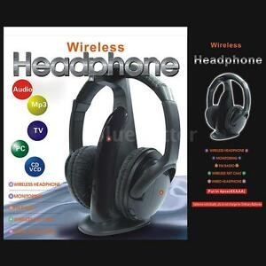5-in-1-Wireless-Headphones-Headset-FM-Radio-for-Mp3-TV-CD-DVD-PC-VCD-Player