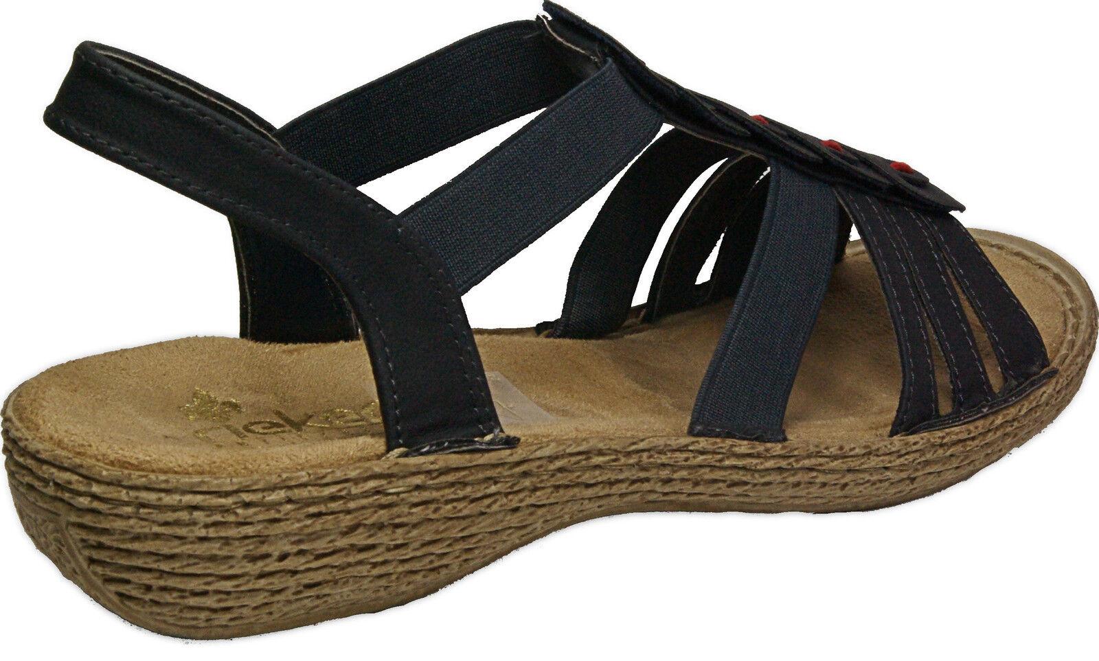 RIEKER Sandalen Schuhe Sandalen RIEKER Riemchen Sandaletten blau NEU b1e1b7