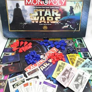 Star-Wars-Monopoly-Classic-Trilogy-Edition-Replacement-Part-Pieces-Tokens-Cards