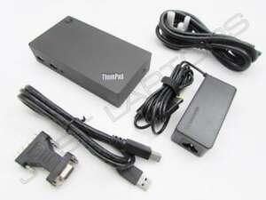Neuf-Lenovo-THINKPAD-T460-T460p-USB-3-0-Dock-Station-Port-Replicateur-Encre-PSU