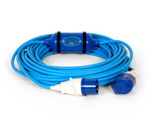 CANAL//schmal Boot Meter kwh Verlängerung Kabel Adapter 16 Amp 25 M