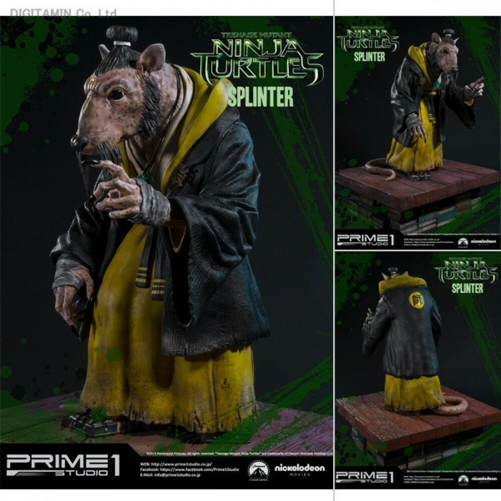Premier 1 Studio Teenage Mutant Ninja Turtles teenage mutant ninja turtles splinter 1 3 Scale Statue New in Box