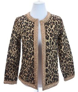 Chico-039-s-Quilted-Reversible-Satin-Leopard-Print-Light-Jacket-Womens-Sz-0-Small-4
