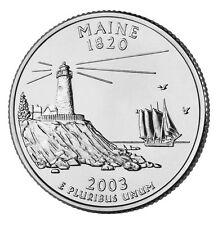 2003 D Maine State Quarter BU