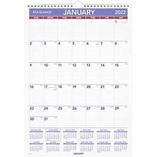 2022 Wall Calendar By At A Glance 12 X 17 Medium Monthly Wirebound Pm228