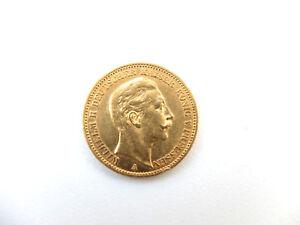 Muenze Kaiserreich 20 Mark Preussen Wilhelm Ii 1900 A 900 Gold Ebay