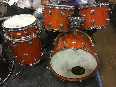 Vntg Camco 5 Pc Drums Chanute Ks Amber Lacquer Matching Aristocrat Snare Ebay