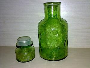 Likoerflasche-Whiskyflasche-Gruen-Mit-Glasverschluss-H-24-cm-Vol-max-1-0-l