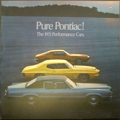 1971 Pontiac High Performance Sales Brochure Firebird Trans Am Judge GTO GP
