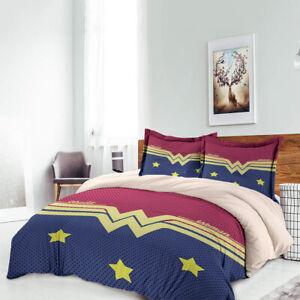 Superhero Kids Bedding Set Quilt//Duvet Cover Twin//Full//Queen//King Pillowcase New