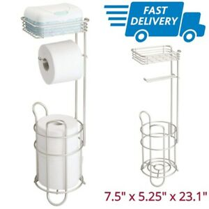 Details About Stand For Toilet Paper Extra Tissue Roll Holder Large Free Standing Rolls Rack