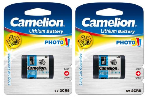 2x Camelion Photo-Batterie 2CR5 - 2 CR 5 -  6V  - 6,0V 1400 mAh DL245 2CR5M 5032