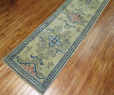 Antique Turkish Oushak Ushak Rug Size 2'4''x34'8''