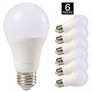 tiwin a19 e26 led light bulbs 100 watt equivalent 11w daylight ebay. Black Bedroom Furniture Sets. Home Design Ideas