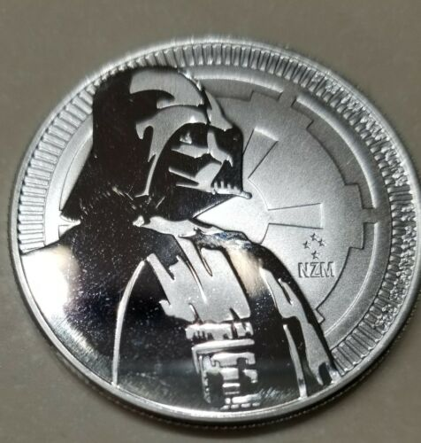 Darth Vader 1 oz 999 Silver Coin 2 dollar Niue Framed with stand Star Wars