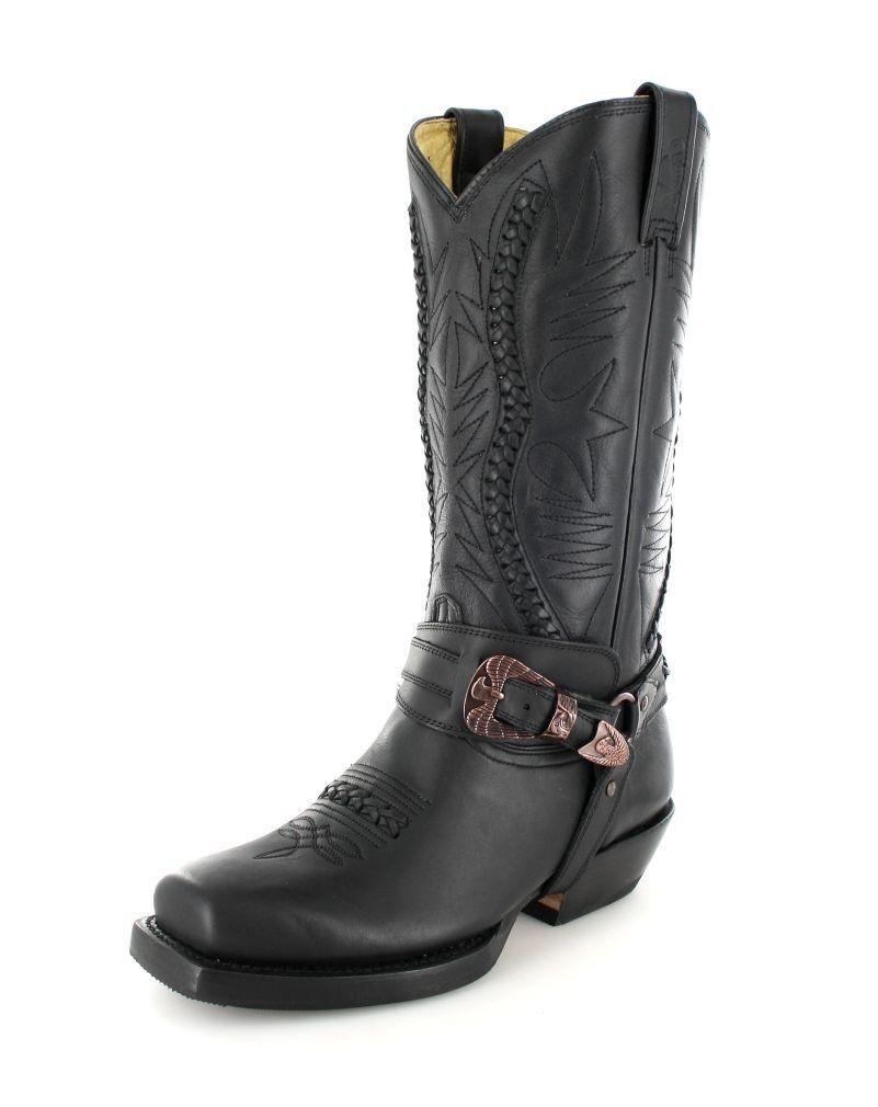 Rancho botas botas 9064 negro botas de motorista