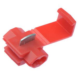 50-X-Rojo-Scotch-Bloqueo-Rapido-De-Empalme-De-Cables-Conectores