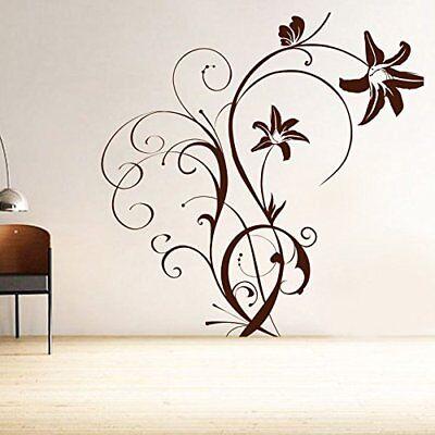 Wall Sticker Swirl Flower Home Décor Vinyl Wall Removable Decal