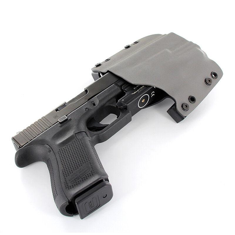 OWB Holster for Olight PL-MINI Valkyrie - 50 Different Gun Models - GUNMETAL