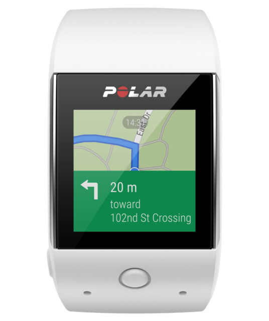 POLAR M600 ANDROID WEAR SMARTWATCH, black & white