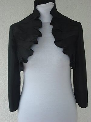 Ladies Black Evening Bolero Fashion Satin Jacket For Women Size Uk 6-20 Zur Verbesserung Der Durchblutung