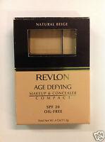 Revlon Age Defying Makeup & Concealer Compact Natural Beige New.