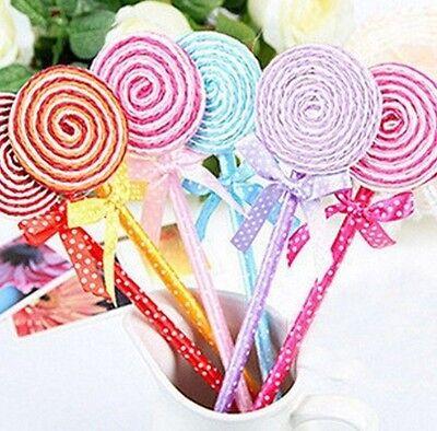 FD476 Sweet Lolita Lollipop Shape Ball Pen Stationary Kid Gift Random Color ~1PC