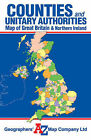 Great Britain Counties and Unitary Authorities Map by Geographers' A-Z Map Company (Sheet map, folded, 2008)