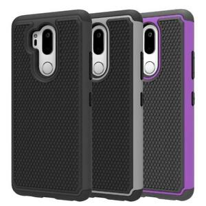 Fits-LG-G7-ThinQ-Case-Rugged-Impact-Hybrid-Dual-Layer-Shockproof-Thin-Hard-Cover