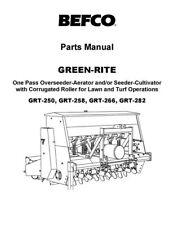 Befco Green Rite Seeder Aerator Cultivator Grt 250 Grt 258 Grt 266 Grt 282 Parts