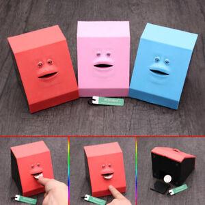 Details about Cute Automatic Face Bank Coin Touch Sensor Facebank Kids  Money Saving Box Gift