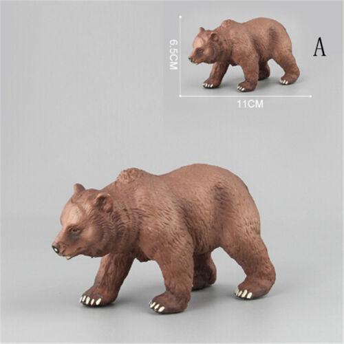 PVC Animals Polar Bear Static Model Action Figures Kids Educational Toys Gift