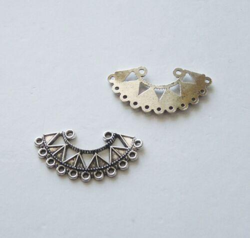 6Pcs Chandelier Earring Findings 10 trous Ventilateur Collier Pendentif Connecteur charms