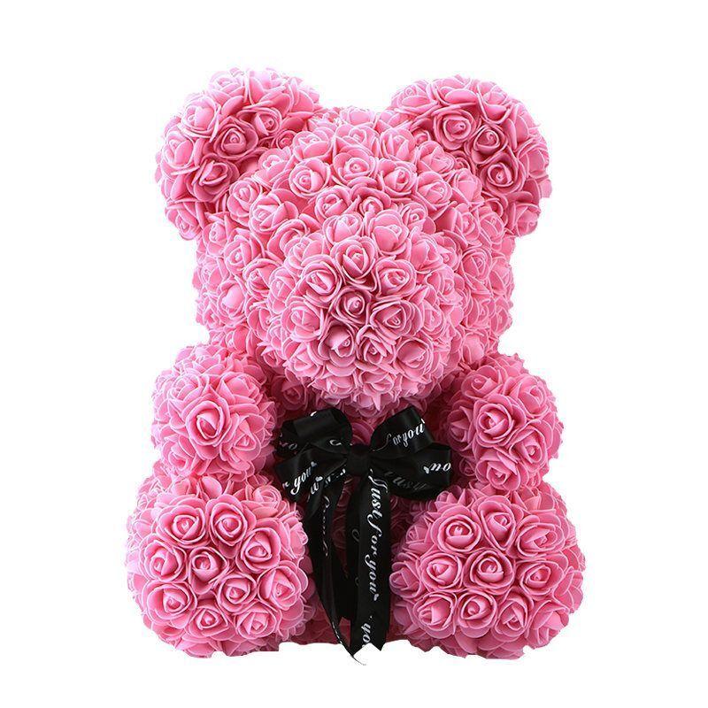 Pink White Rose Bud Cherub Figurine Heart Trinket Jewelry Box Valentines Gift