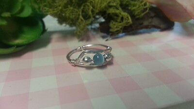 Temperate Beautiful New Blue Cat-eye Wire Toe Ring Ring 925 Sterling Silver *size Ad*f248 Fashion Jewelry Toe Rings