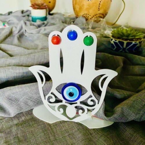 Handarbeit H:13cm x B:12,5cm Tischdeko Hand der Fatima aus Metall
