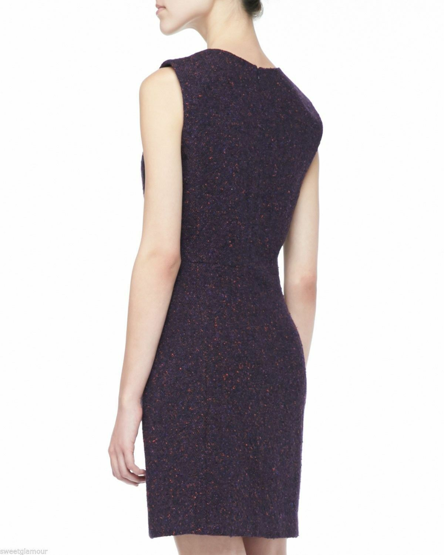 335 Theory Franita Geranium Multi Multi Multi color Varro Tweed Wool Blend Sheath Dress 43519e