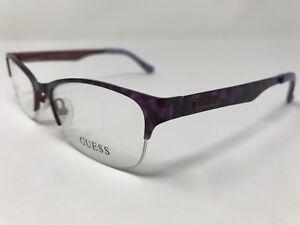 fa9b1f58b2 Guess Eyeglasses Womens GU2469 Purple Half Rimless 52-18-135mm KT27 ...