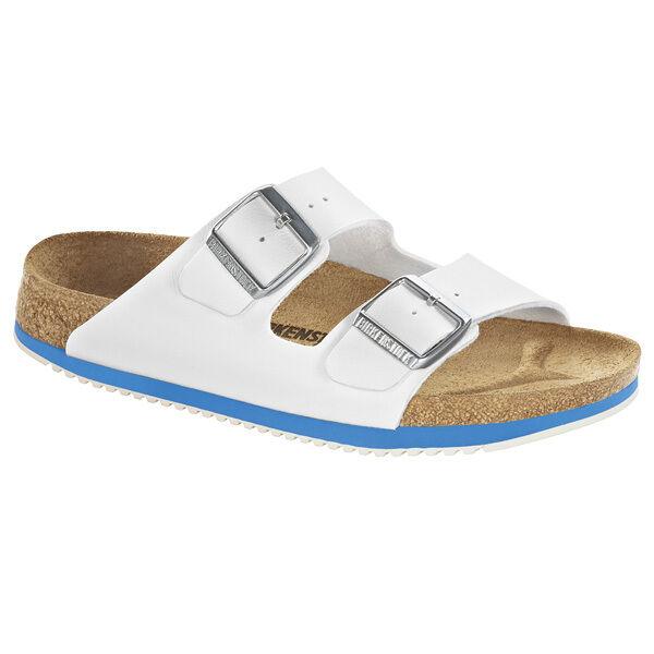 Birkenstock Arizona SL Birko-Flor Sandalee Schuhe WEISS 230124 Weite normal