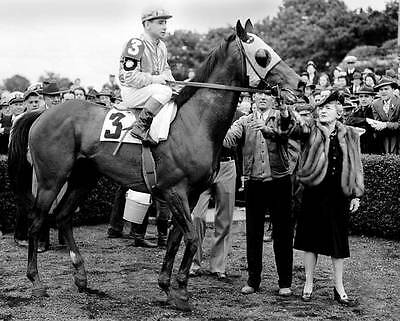 1943 COUNT FLEET TRIPLE CROWN HORSE RACING 8X10 PHOTO
