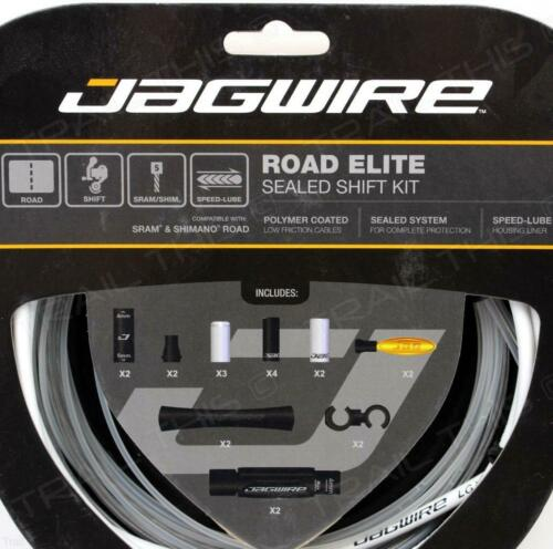 Jagwire Road Elite Sealed Shift Cable//Derailleur Kit for SRAM//Shimano White