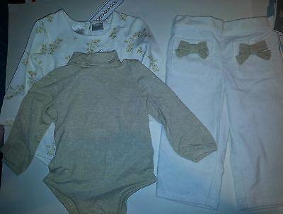 Toddler Girl Koala Kids Brand Cream /& Gold Pants Size 36M 48M