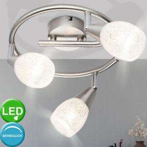 LED-Kristall-Decken-Leuchte-Wohn-Zimmer-Rondell-Spot-Lampe-Strahler-verstellbar