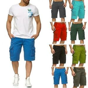 Mens-Cargo-Combat-Chino-Shorts-Cotton-Work-Wear-Summer-Half-Pant-Casual-Jeans