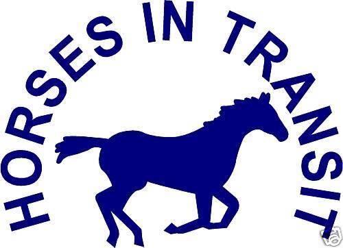HORSES IN TRANSIT STICKERS DECALS horsebox