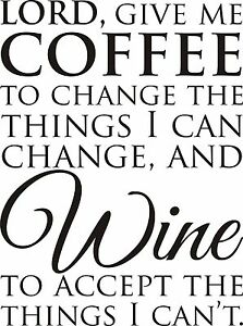 Details about wine serenity prayer room VINYL Wall DECAL art decor kitchen  quote lettering