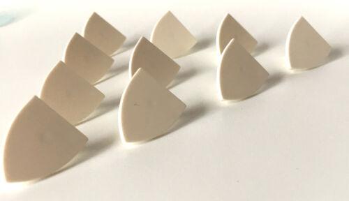 K26 LEGO ®  10 x  dreieckiges Schild in weiß ohne Aufdruck NEUWARE