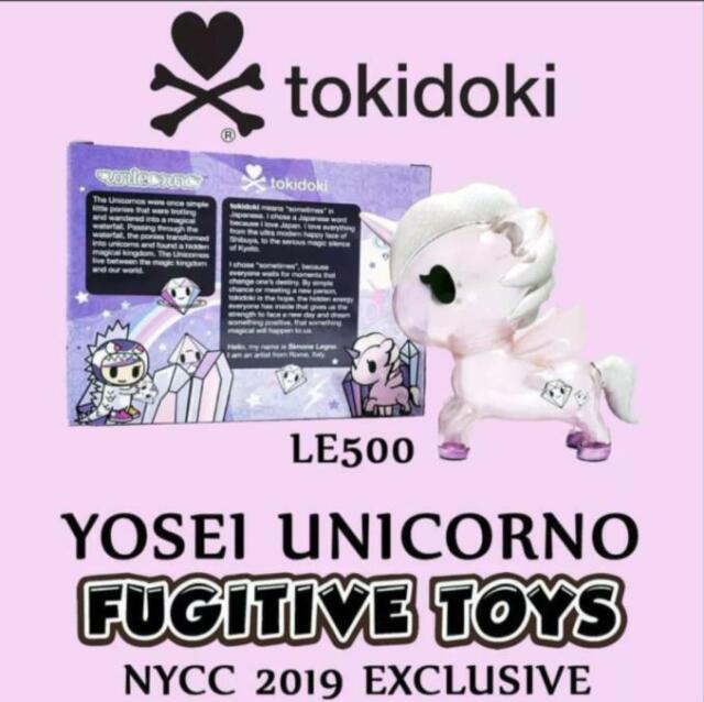 Fugitive Toys NYCC 2019 Tokidoki LE500 Yosei Unicorno